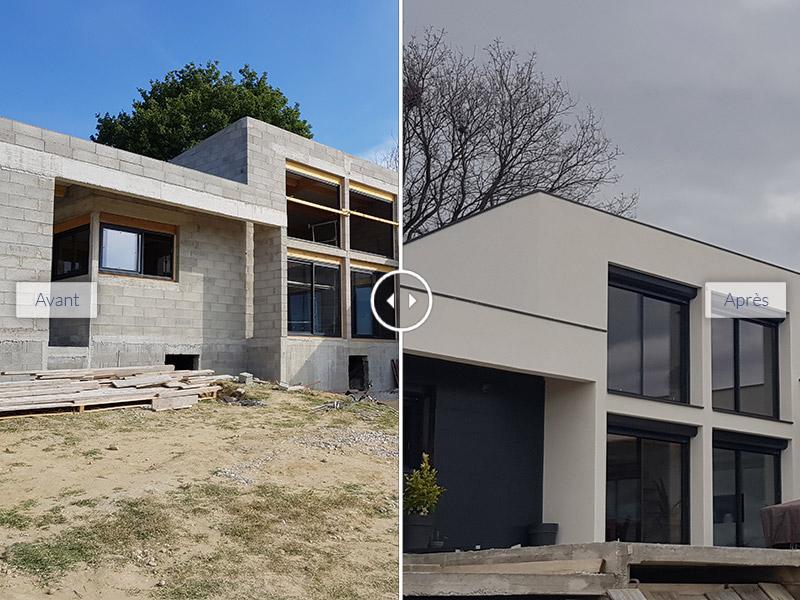 Maison contemporaine Eurre_Entreprise tous corps d état_Constructeur de maison moderne_STB Constructions